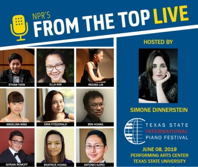 NPR's From the Top radio show @ Performing Arts Center Patti Strickel Harrison Theatre  | San Marcos | Texas | United States